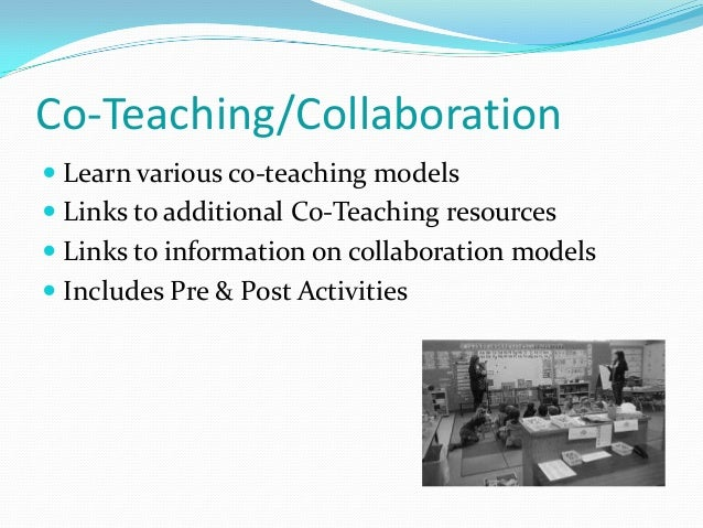 Collaborative Group Teaching Model ~ Coursework outline