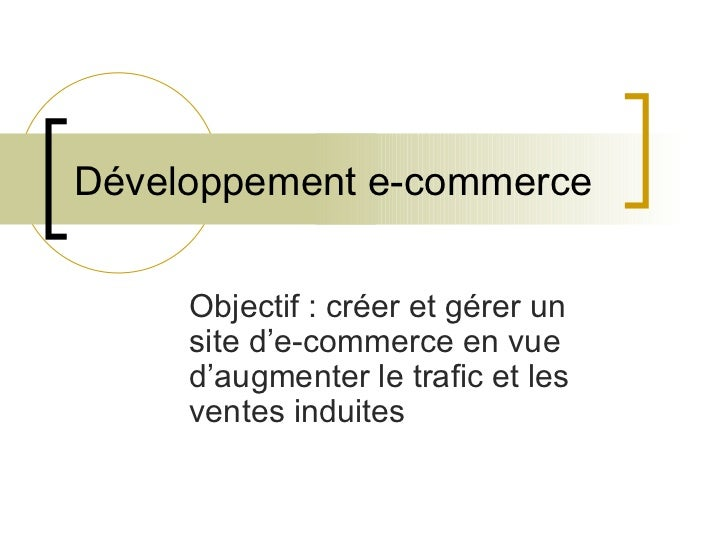 Course material e-commerce and Internet Project Management