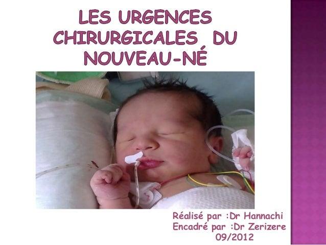 Réalisé par :Dr Hannachi Encadré par :Dr Zerizere 09/2012