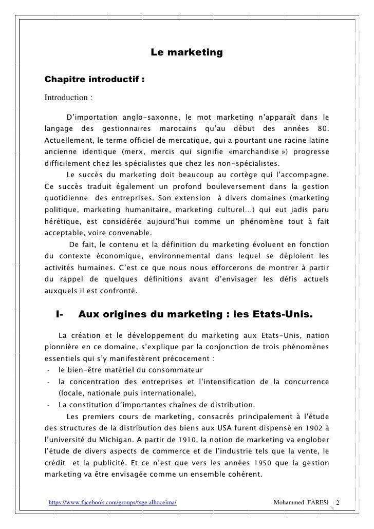 MFares cours marketing