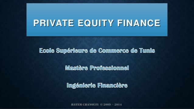 PRIVATE EQUITY FINANCE