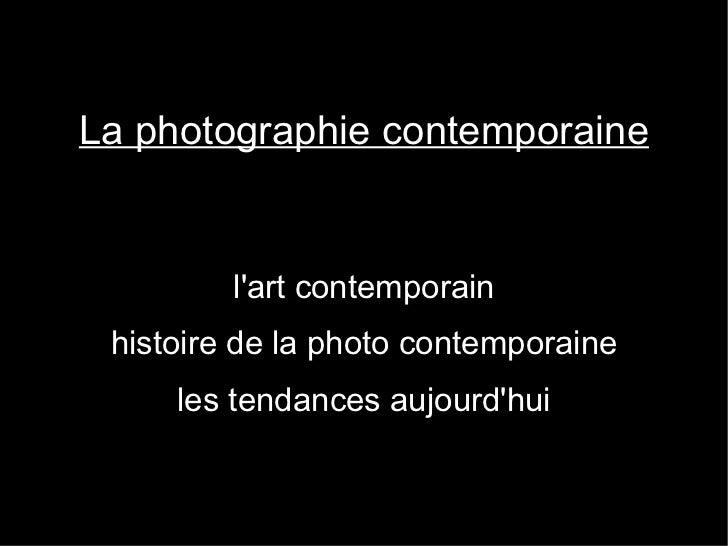 Cours photo contemporaine 2011
