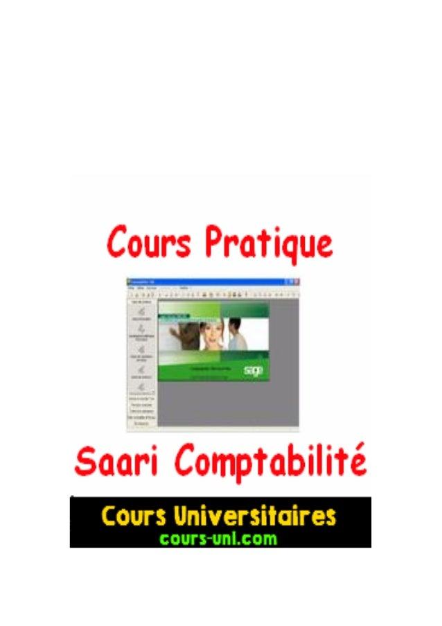 """COMPTABILITE SUR ORDINATEUR  """"L'apprentissage par la pratique""""  cours-uni.com"""