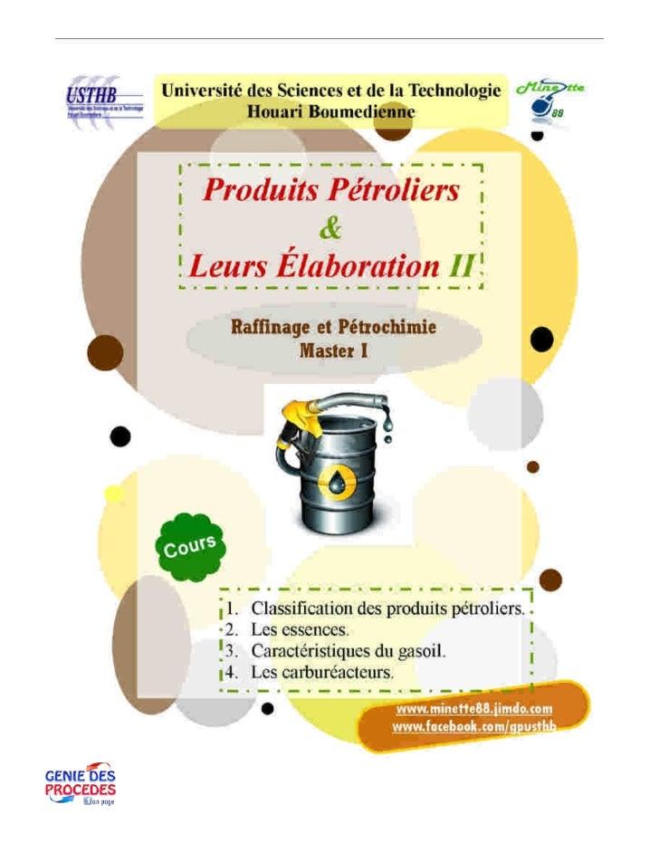 Cours produits pétroliers 2