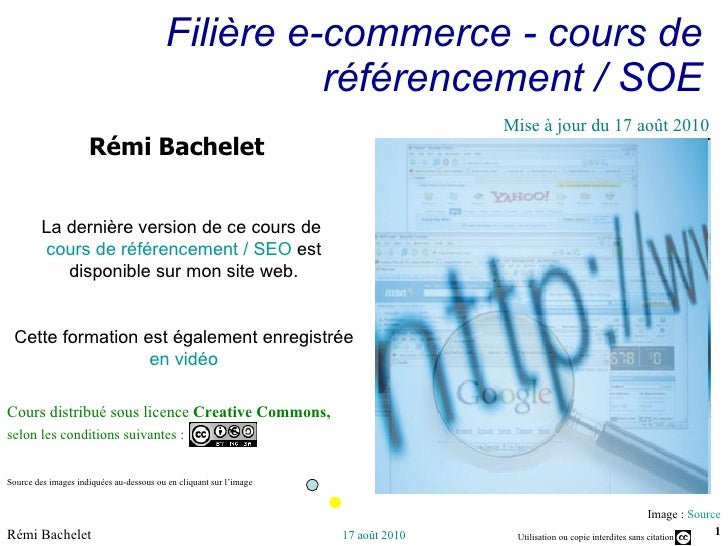 Cours referencement presentation