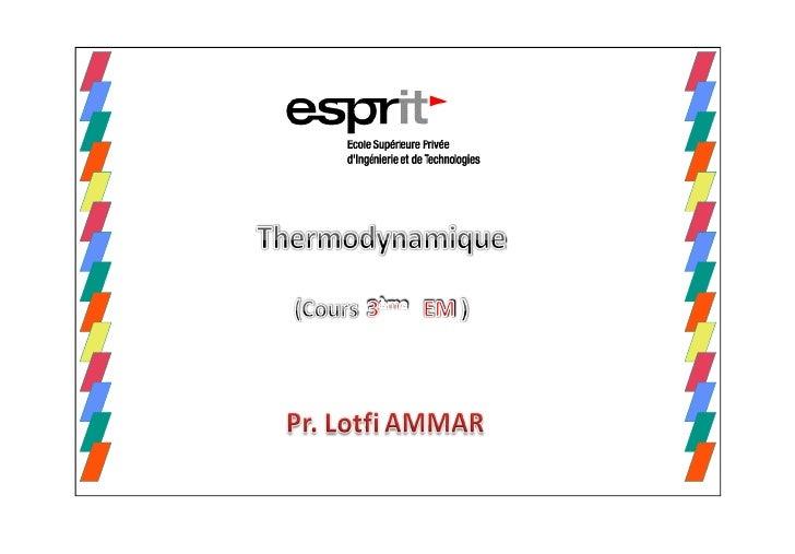 Propriété constante               Nom du processusTempérature                       IsothermePression                     ...