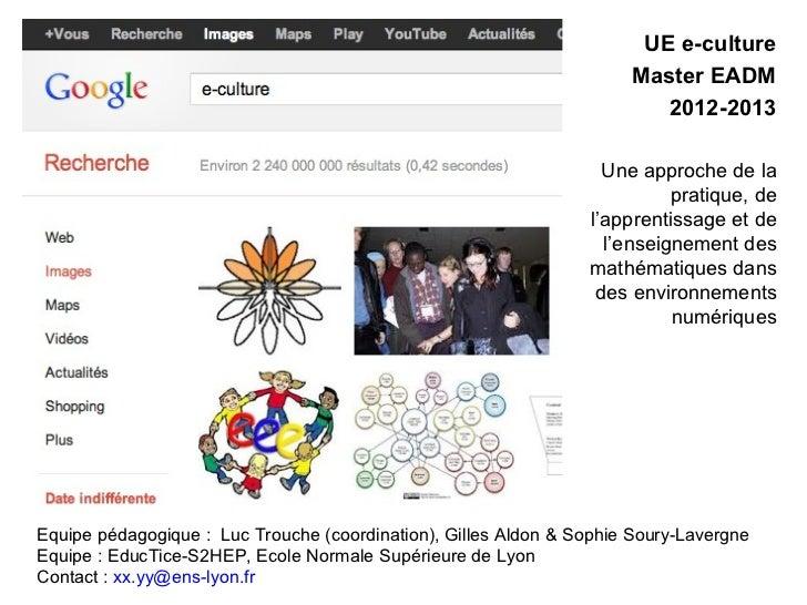 UE e-culture                                                                      Master EADM                             ...