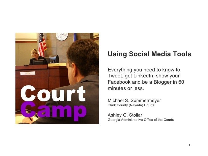Court  Camp  Social  Media  Tools