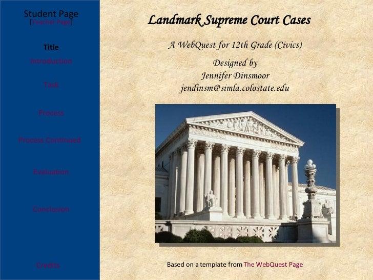 WebQuest Cases