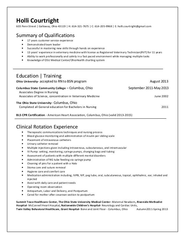 Er nurse resume