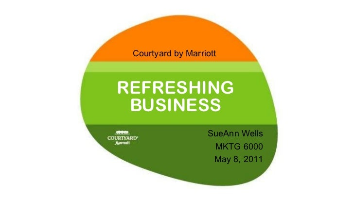 REFRESHING BUSINESS Courtyard by Marriott SueAnn Wells MKTG 6000 May 8, 2011