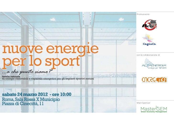 Convegno nuove energie per lo sport: a che punto siamo?