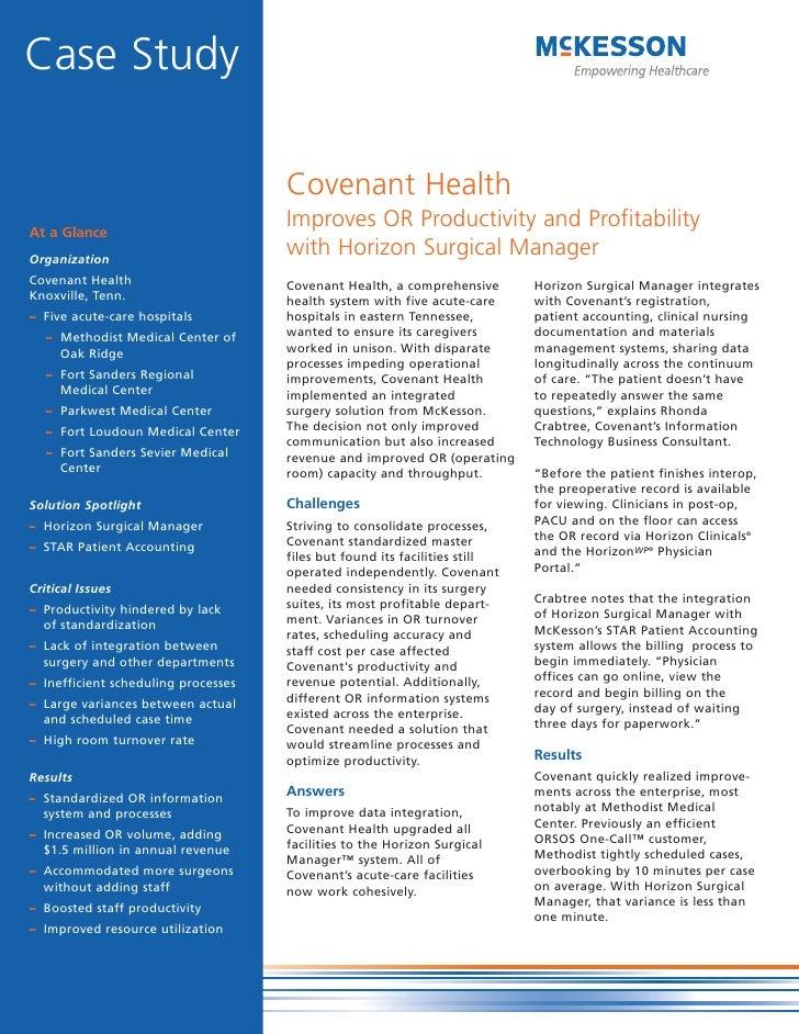 Covenant Health Case Study