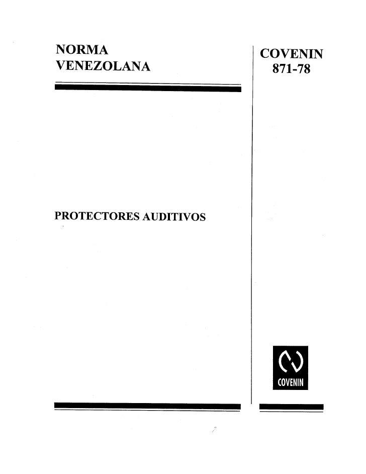 Covenin 871-1978