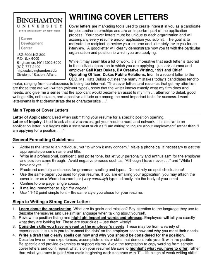 Examples Cv Cover Letter