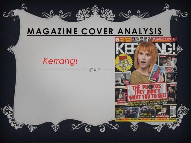 MAGAZINE COVER ANALYSIS Kerrang!