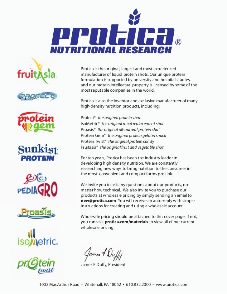 ®     NUTRITIONAL RESEARCH                    Protica is the original, largest and most experienced                    man...