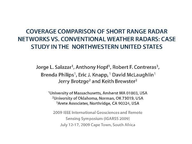 Radar Covergare Comparison