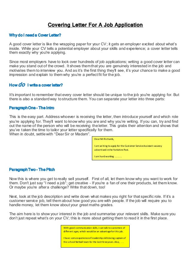 Cover letter examples: Free covering letter and cover letter