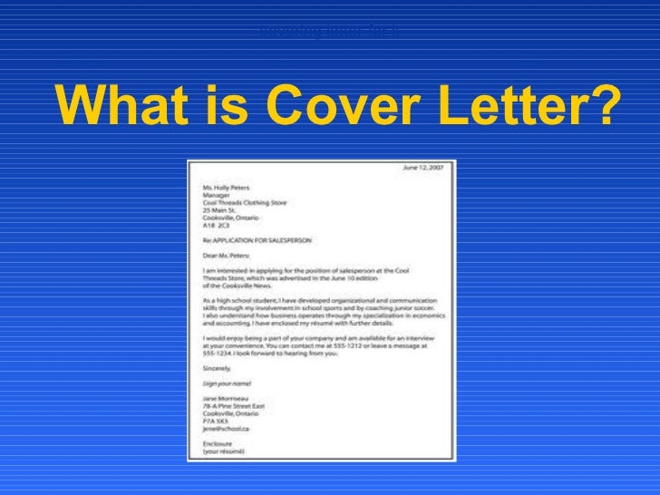 covering letter for itWhat is Cover Letter?