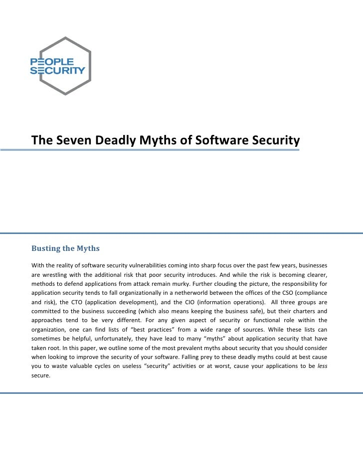 TheSevenDeadlyMythsofSoftwareSecurity           ...