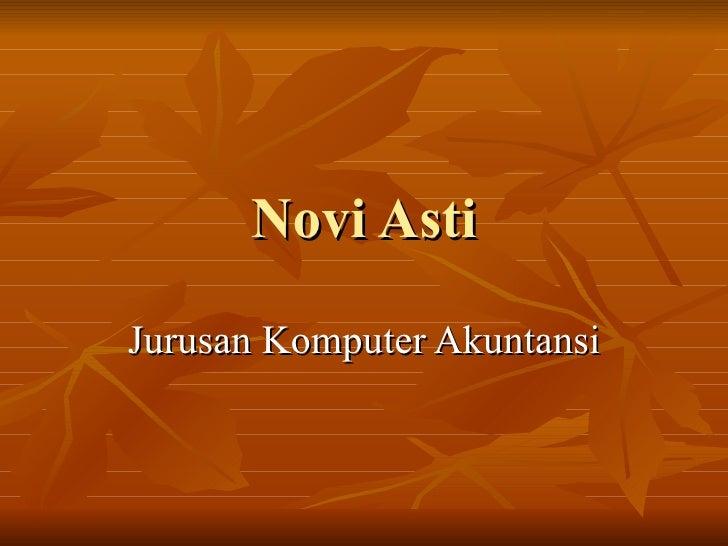 Novi Asti Jurusan Komputer Akuntansi