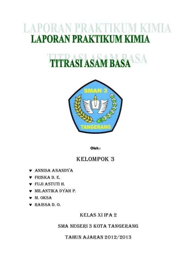 Asam basa kimia study center