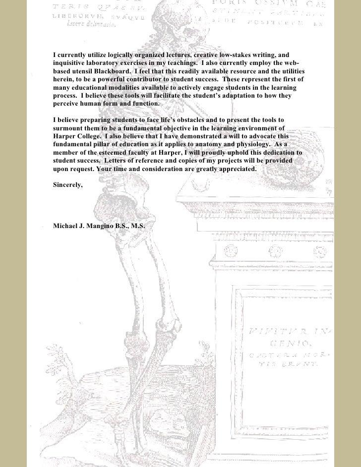Order Ecology Application Letter