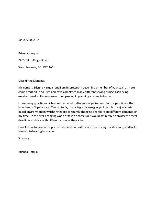how to present a cover letter