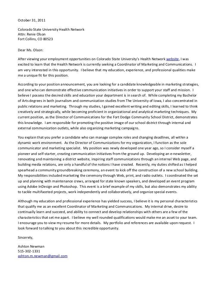 Digital Media Specialist Cover Letter