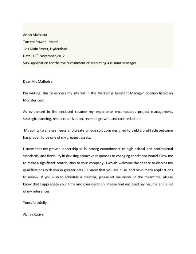 Cover Letter Yes Or No Marketing Assistant Cover Letter  Gallery