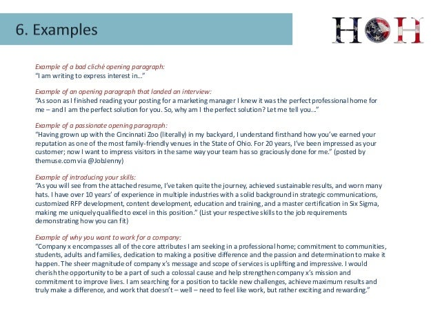 opening paragraph examples