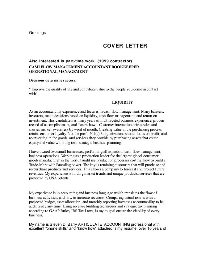 Greeting For Cover Letter