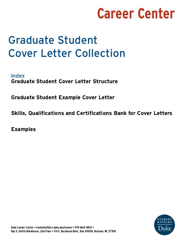graduate student cover letter If you're one of those job-seekers who learn best by looking at examples, then look at a sample cover letter for a recent college graduate.