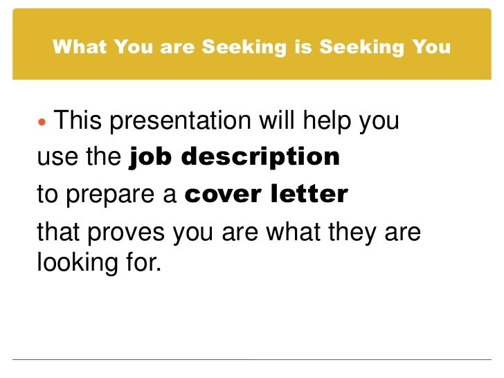how to prepare a cover letter