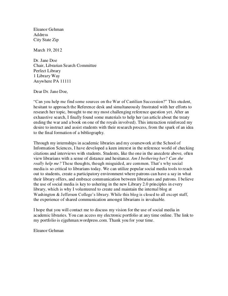 cover letter sample college professor cover letter