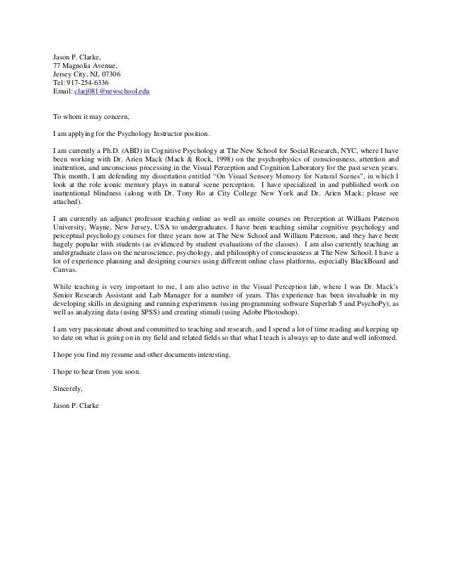 Professor Resignation Letter