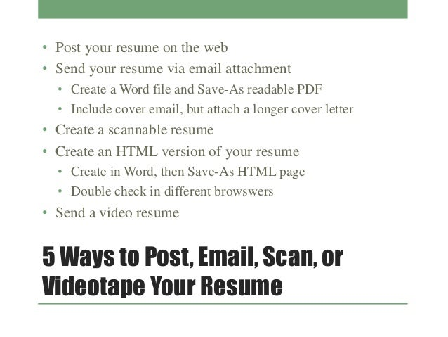 how email your resume and cover letter how you send your resume and cover letter via