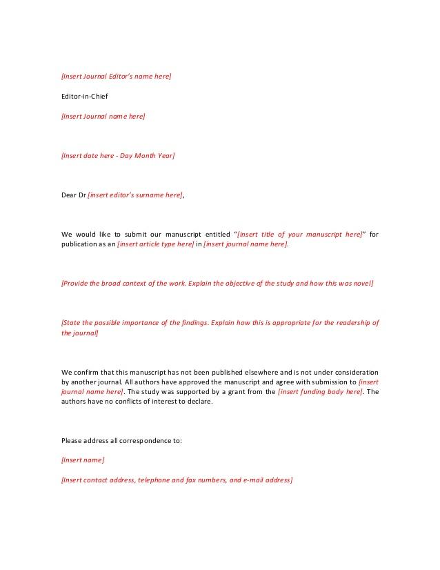 Short Cover Letter Template