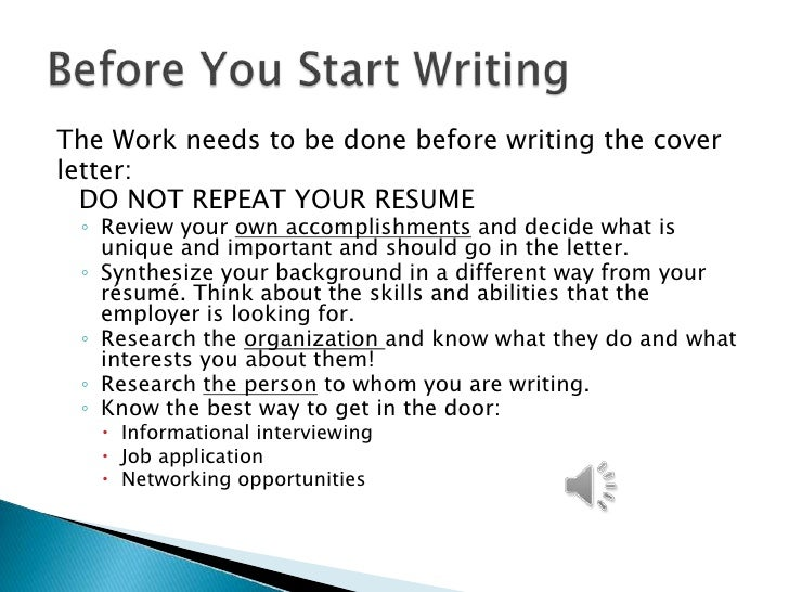 how do you start a cover letter for your resumes