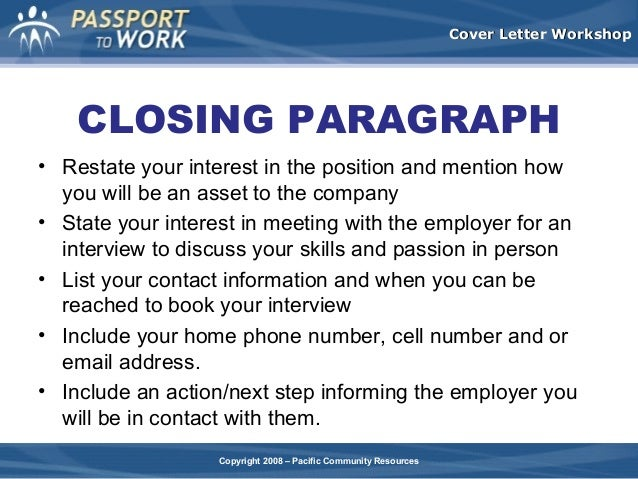first paragraph of cover letter
