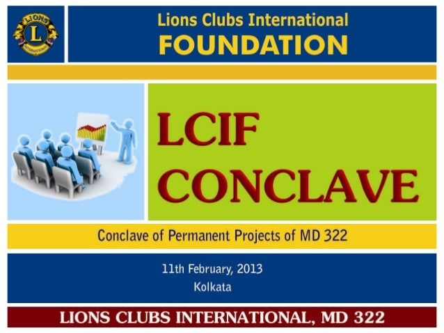 Cover page of lcif conclave of permanent projects, md 322