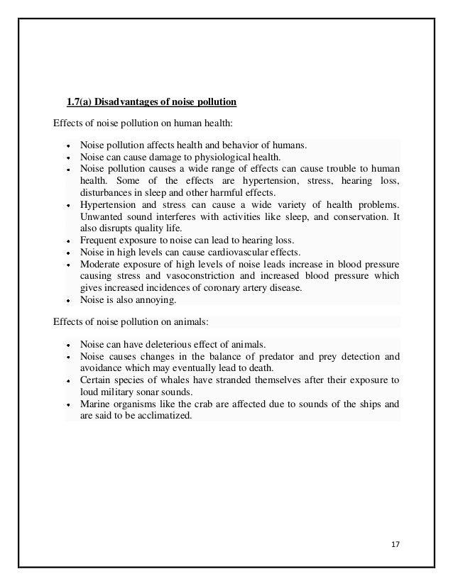 marine pollution essay