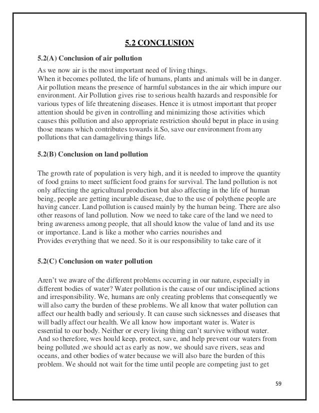 Water pollution essay conclusion strategies
