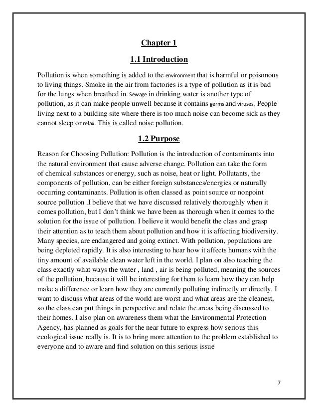 air pollution causes effects essay