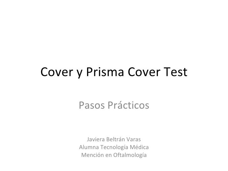 Cover y prisma cover test