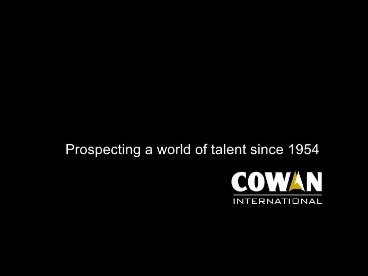Prospecting a world of talent since 1954
