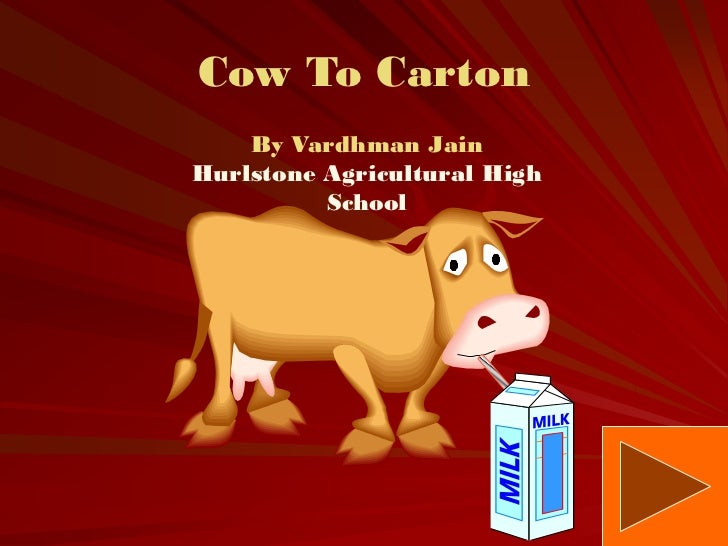 Cow To Carton    By Vardhman JainHurlstone Agricultural High          School