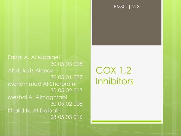 Cox 1,2 inhibitors