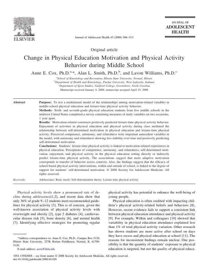 Cox 2008 Journal Of Adolescent Health